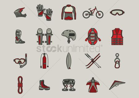 Accessories : Compilation of extreme sports gear