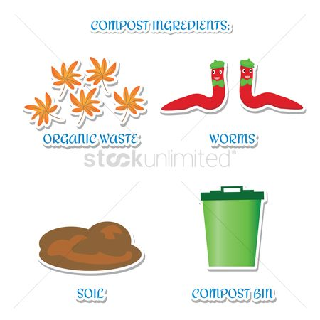 Recycle bin : Compost ingredients