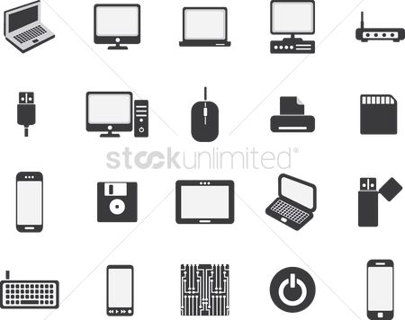 Wifi : Computer icon set