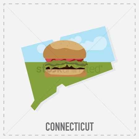 Connecticut : Connecticut map sticker