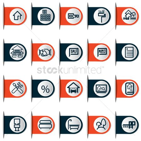 Roller brush : Construction and home icons