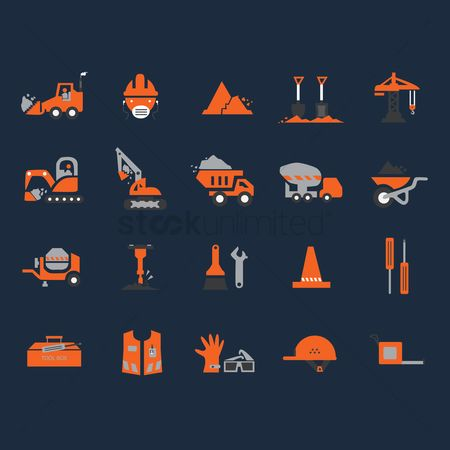 Trolley : Construction icons