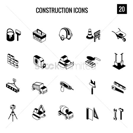 Roller : Construction icons