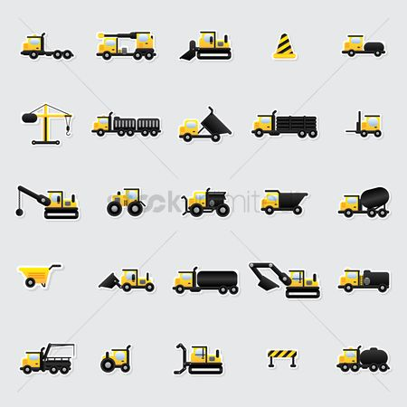 Lorries : Construction icons