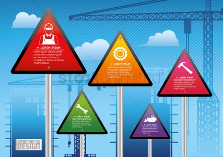 Caution : Construction infographics