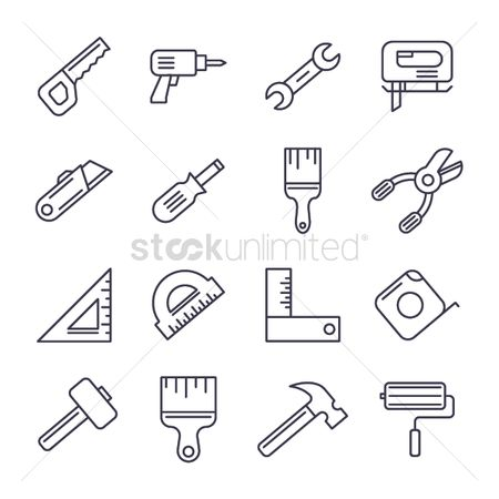 Roller brush : Construction tool collection