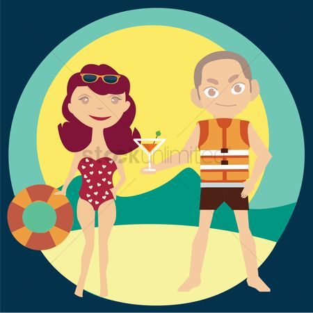 Lifebuoy : Couple at beach