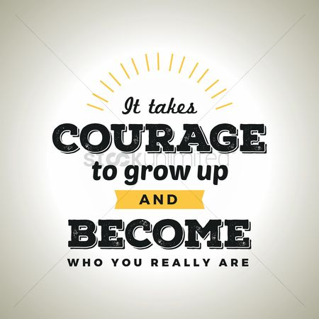 Brave : Courage typography design