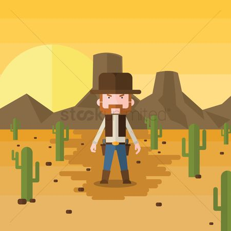Cactuses : Cowboy with cactus
