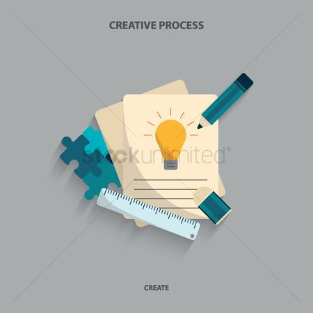 Stationary : Creative process concept