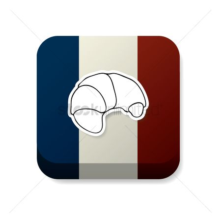 Crispy : Croissant on france flag
