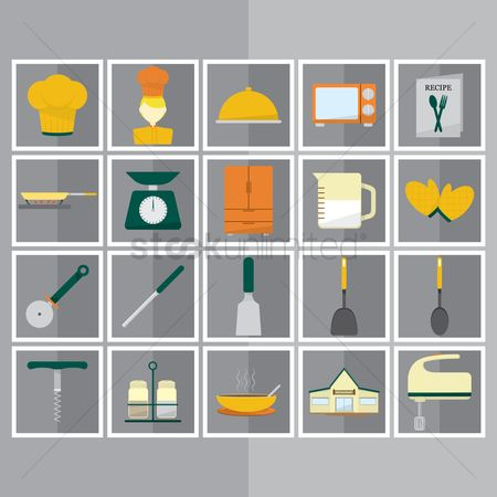 Pizzas : Culinary and kitchen utensils icons