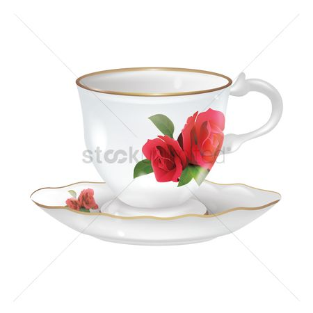 Crockery : Cup and saucer