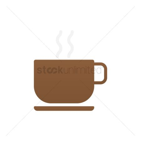 Steam : Cup with warm drink