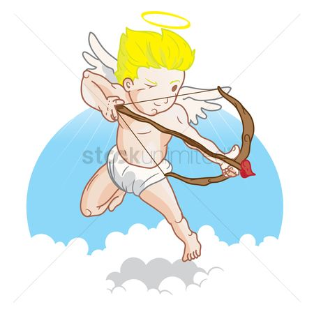 Halo : Cupid with bow and arrow