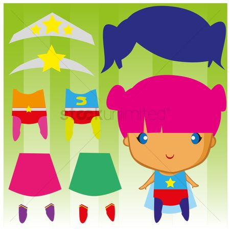 Dolls : Cute dress up paper doll