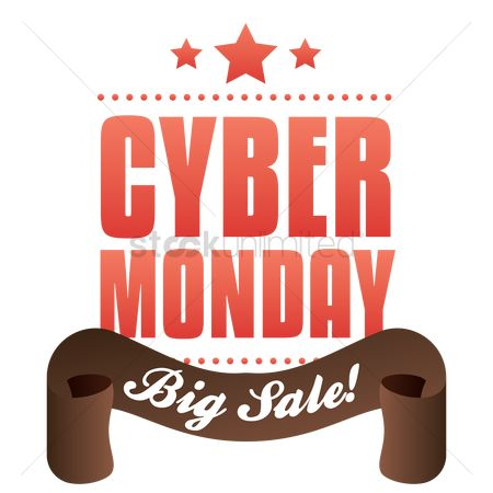 Terms : Cyber monday big sale label
