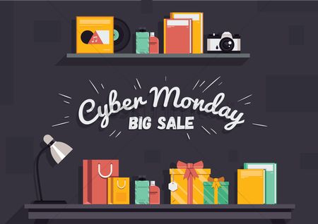 Retail : Cyber monday big sale wallpaper