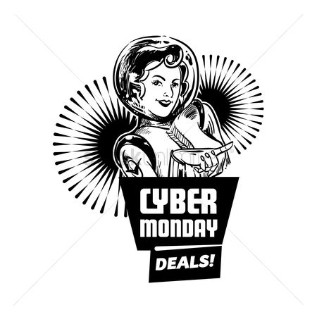 Monday : Cyber monday deals label