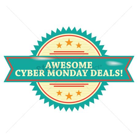 Terms : Cyber monday deals label