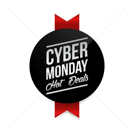 Terms : Cyber monday hot deals label