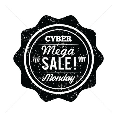 Monday : Cyber monday mega sale label