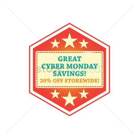 Terms : Cyber monday savings label
