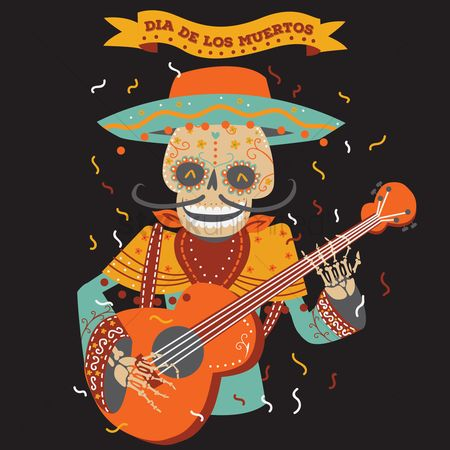 Traditions : Day of the dead musician