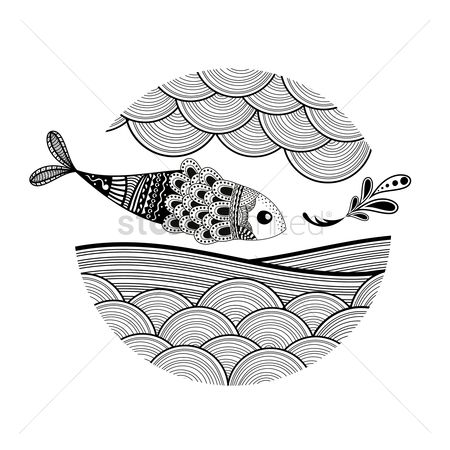 Linear : Decorative fish design