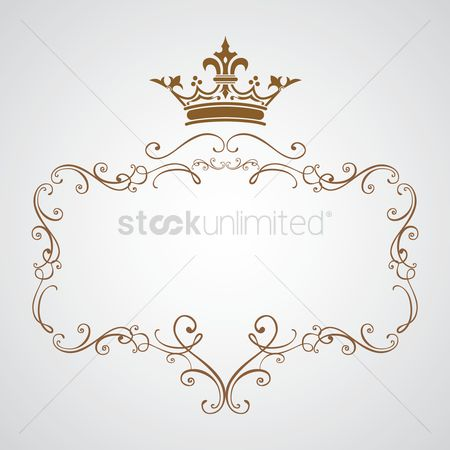 Crown : Decorative frame with crown