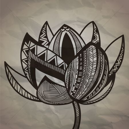 Linear : Decorative lotus