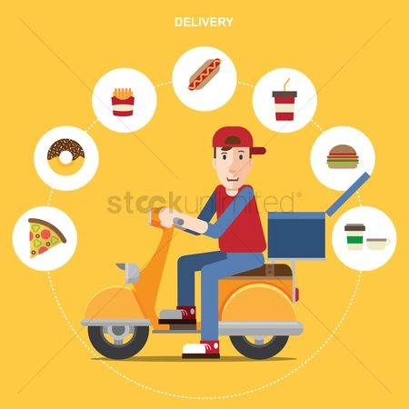 French fries : Delivery boy
