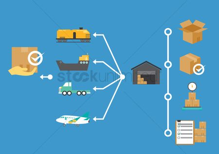 Lorries : Delivery from warehouse