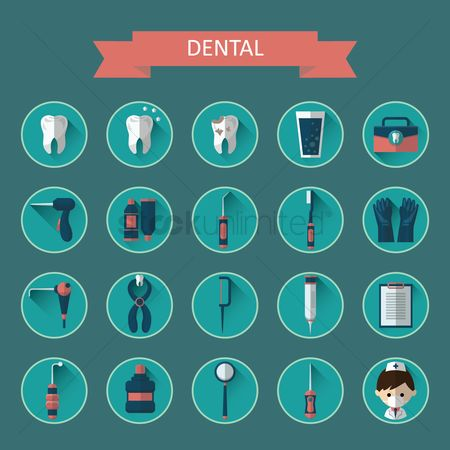Dentist : Dental icon collection