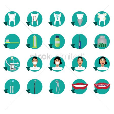 Dentist : Dental icon set