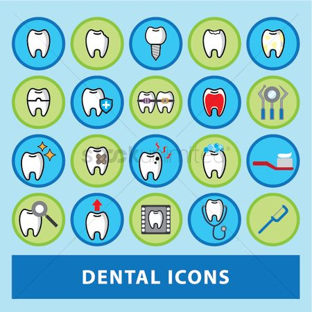 Dentist : Dental icons