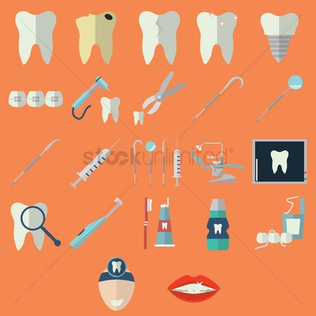 Cleaner : Dental icons