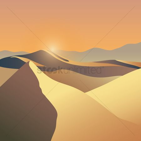 Sunray : Desert during the day