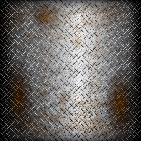 Background abstract : Diamond metal plate background