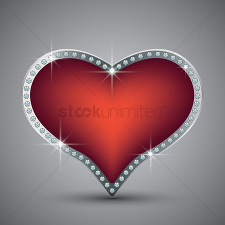 Value : Diamond studded red heart