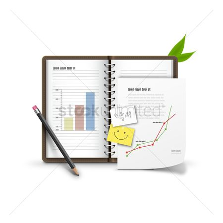 Sticky note : Diary with graphs
