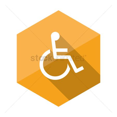 Wheelchair : Disabled handicap icon