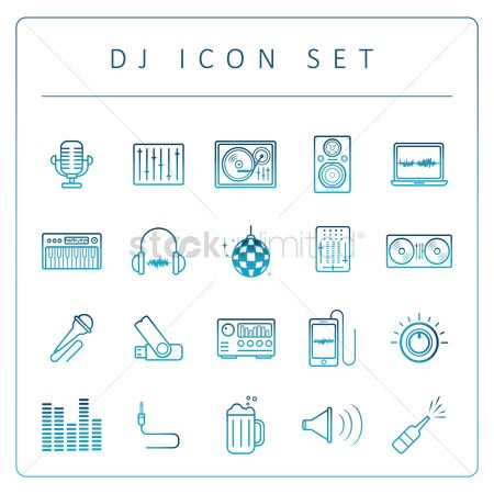 Beer mug : Dj icon set