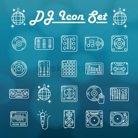 Volume : Dj icon set