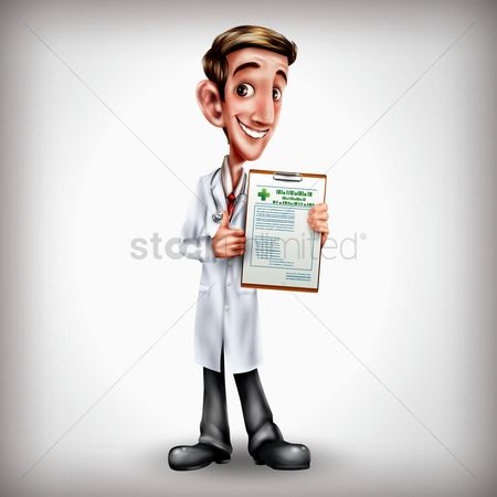 Clinicals : Doctor showing clipboard