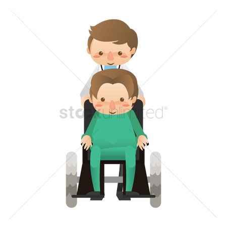 Wheelchair : Doctor taking patient in wheelchair