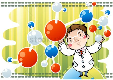 Molecules : Doctor with molecule structure