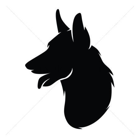 free german shepherd silhouette stock vectors stockunlimited