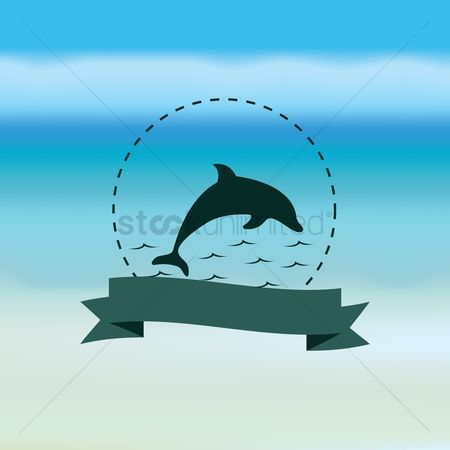 Coast : Dolphin with banner