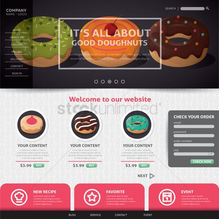 Favourites : Doughnut website design